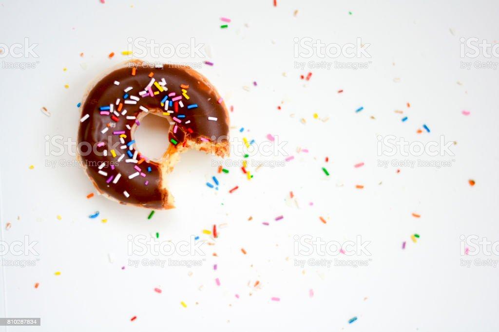 Chocolate donut stock photo