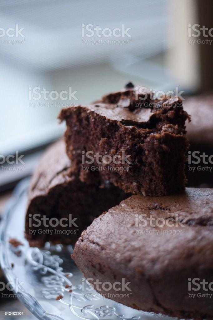 Ciambella al cioccolato stock photo