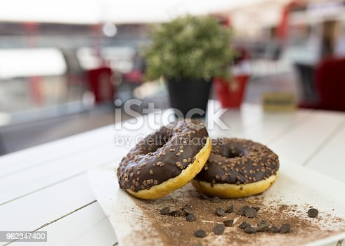istock Chocolate donut 962347400