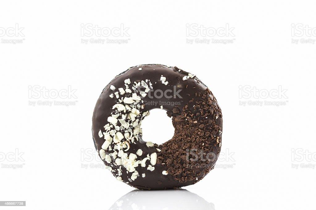 Chocolate donut with Sprinkles. stock photo