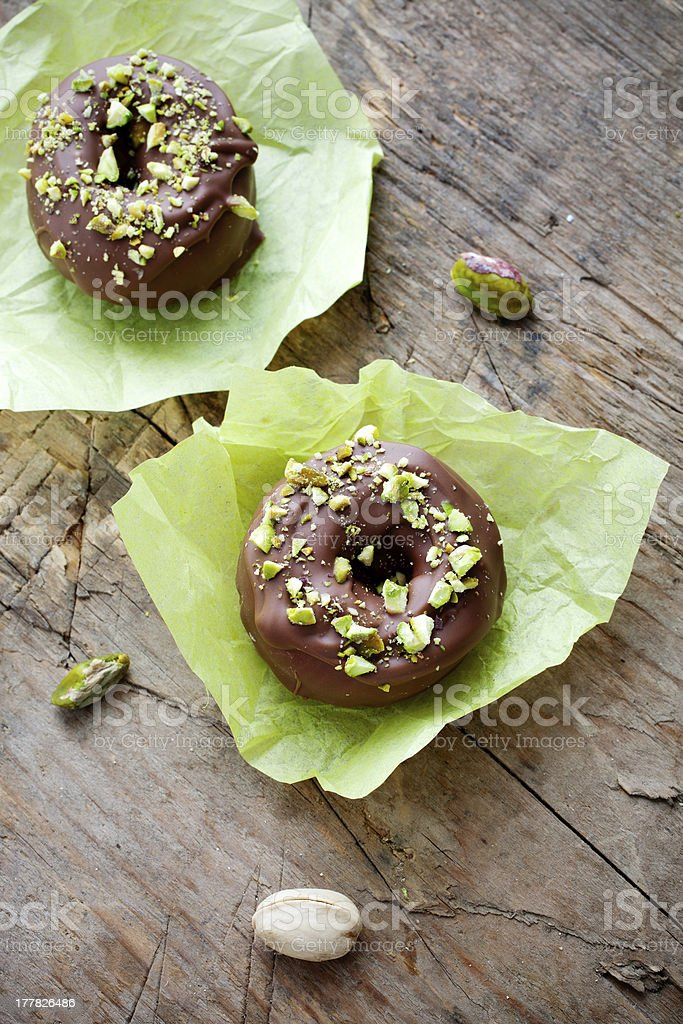 Chocolate donuts royalty-free stock photo