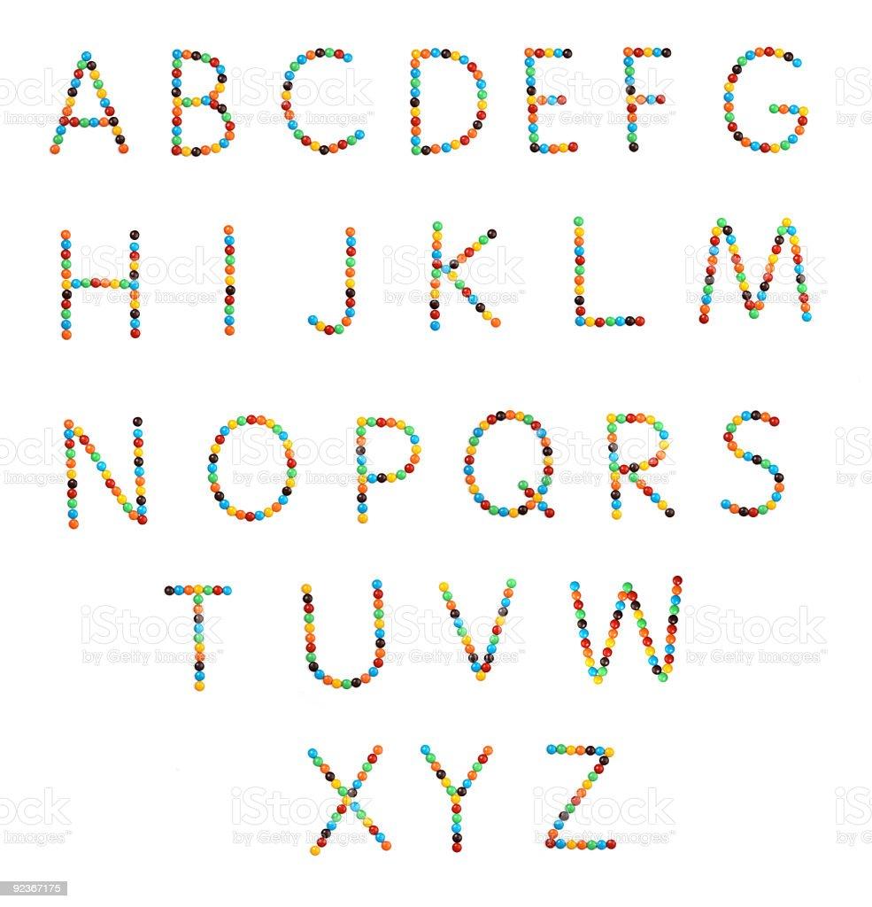 chocolate drop alphabet - 400MP stock photo