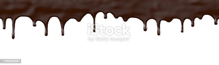 chocolate, isolated on white background, drops