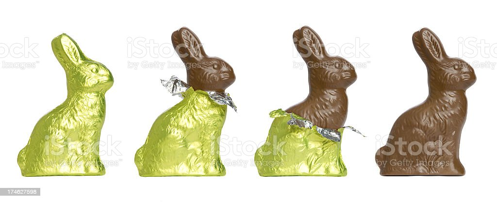 Chocolate Easter Rabbits stock photo