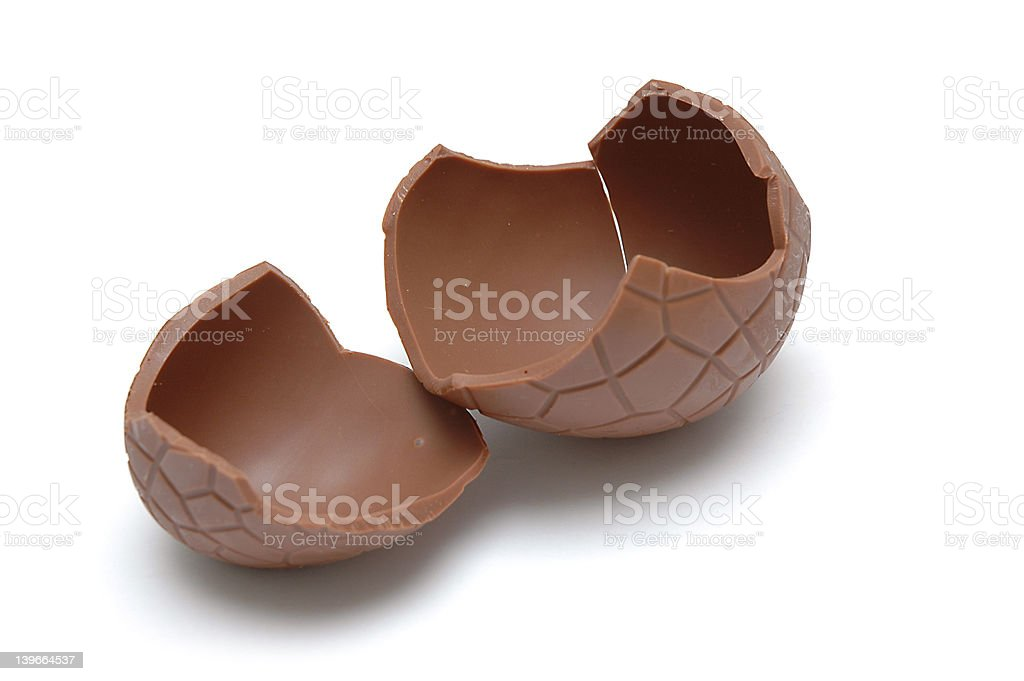 Chocolate Egg (cracked) royalty-free stock photo