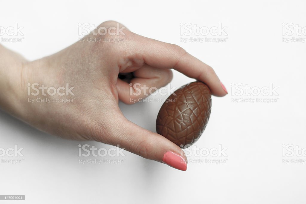 Chocolate Egg stock photo