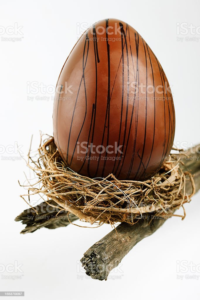 Chocolate egg royalty-free stock photo