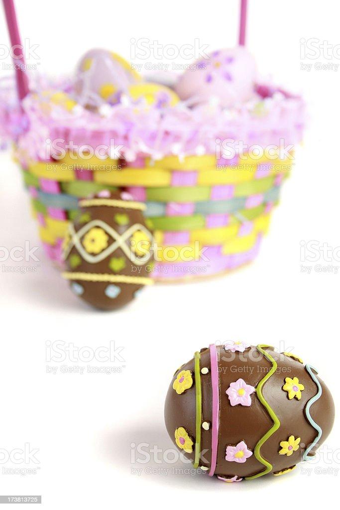 chocolate egg royalty-free stock photo