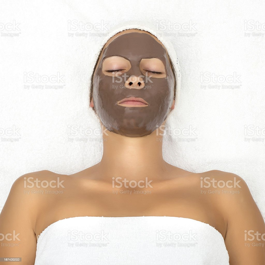 Chocolate Face Mask royalty-free stock photo