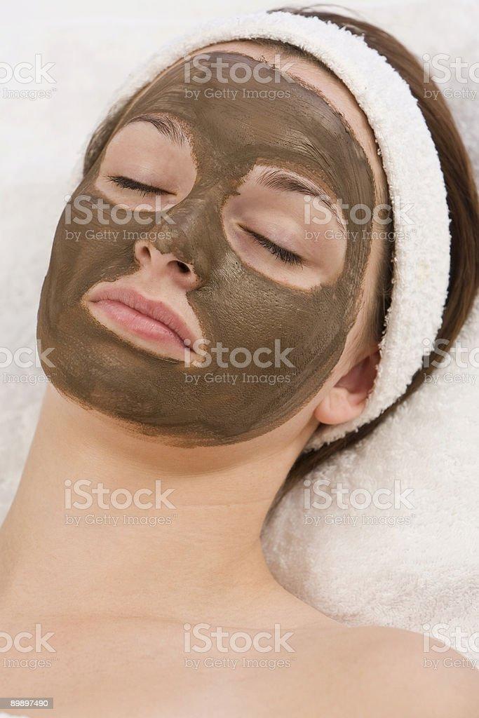 Schokolade Gesichtsmaske Lizenzfreies stock-foto
