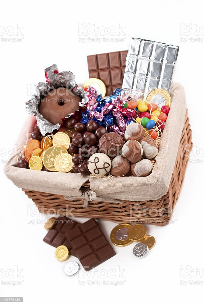 Chocolate Filled Basket royalty-free stock photo