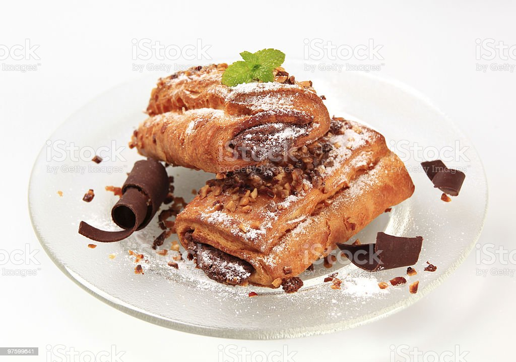 Chocolate  filled rolls royalty-free stock photo
