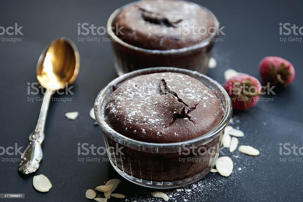 Chocolate fondant royalty-free stock photo