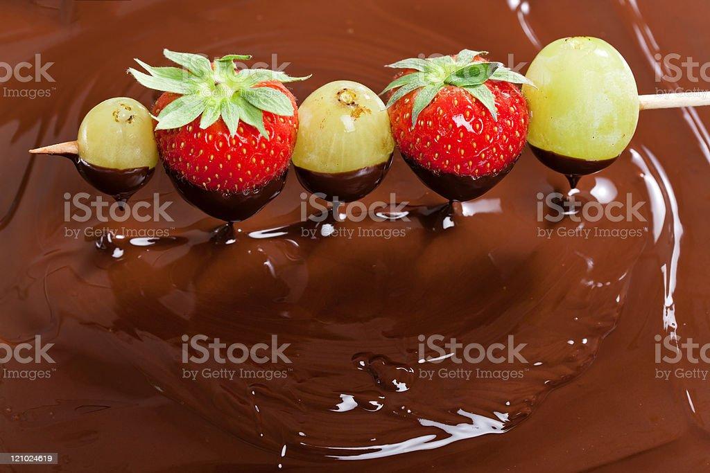 chocolate fondue royalty-free stock photo