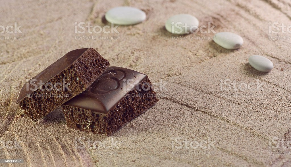 chocolate for bath royalty-free stock photo