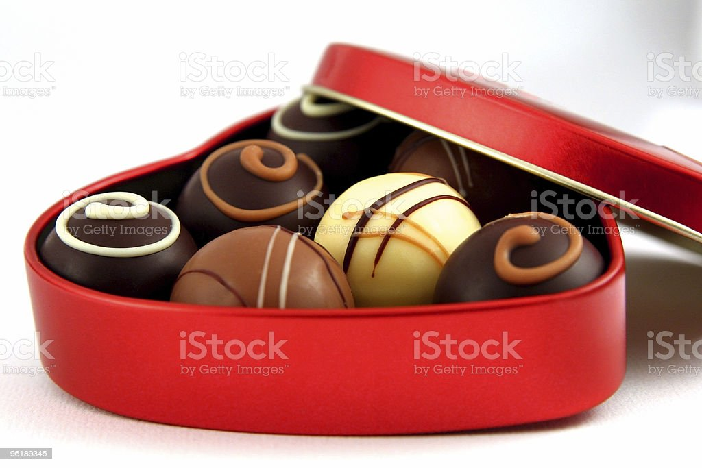 Chocolate for Valentine`s Day royalty-free stock photo