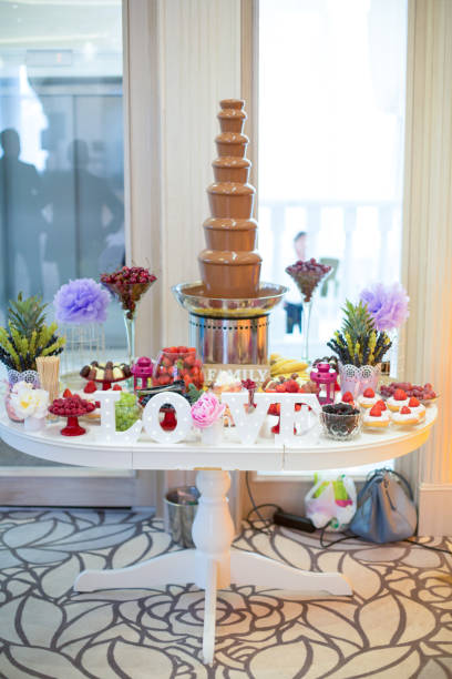 Royalty Free Chocolate Fountain For Wedding Reception Pictures