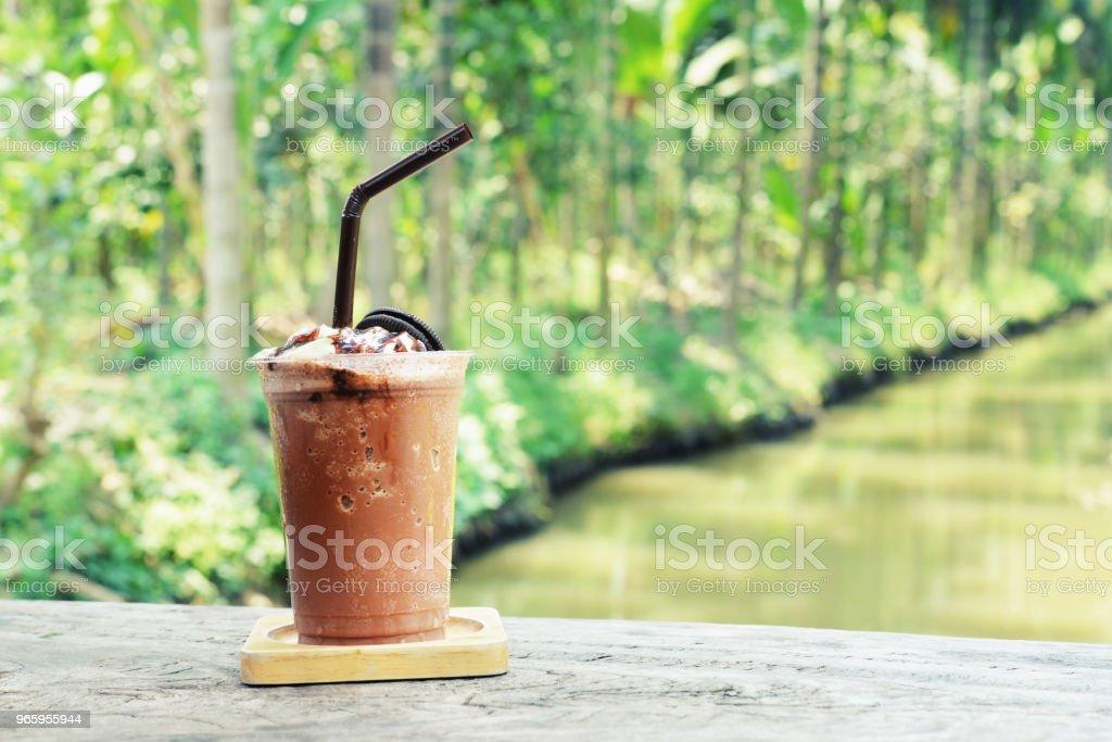 chocolade frappe - Royalty-free Bevroren Stockfoto