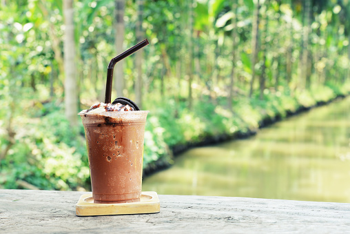Chocolade Frappe Stockfoto en meer beelden van Bevroren