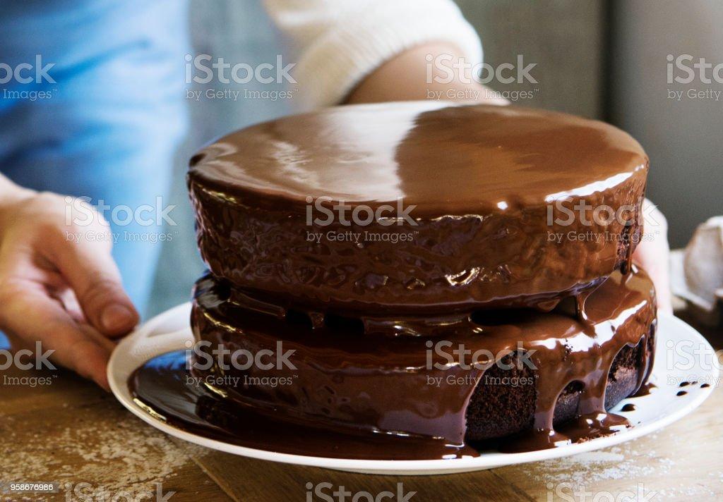 Chocolate fudge kuchen rezept