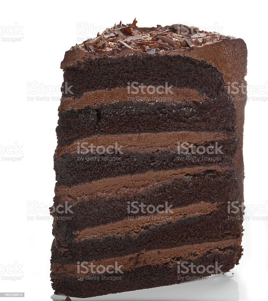 Chocolate Fudge Cake stock photo