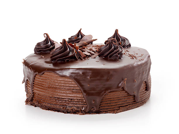 chocolate fudge cake - cake stock photos and pictures
