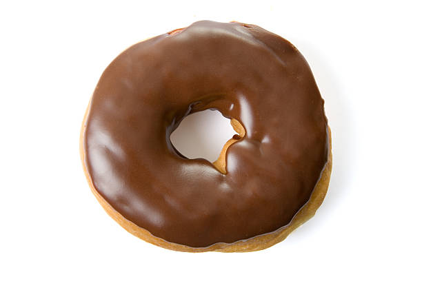 Chocolate Glazed Donut stock photo