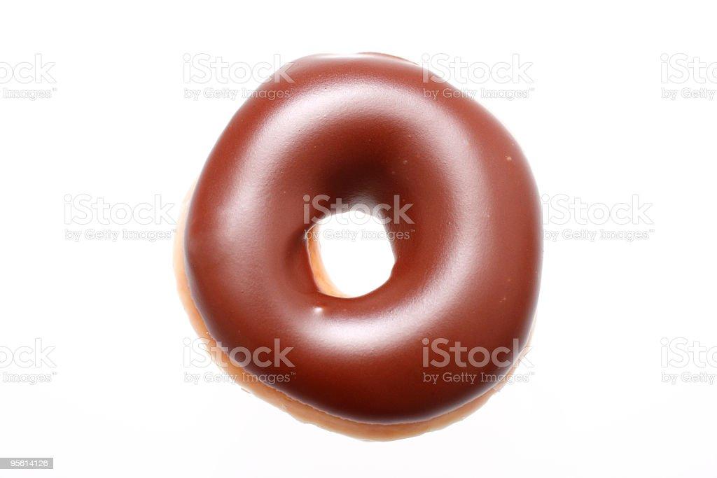 Chocolate glazed Donut stock photo