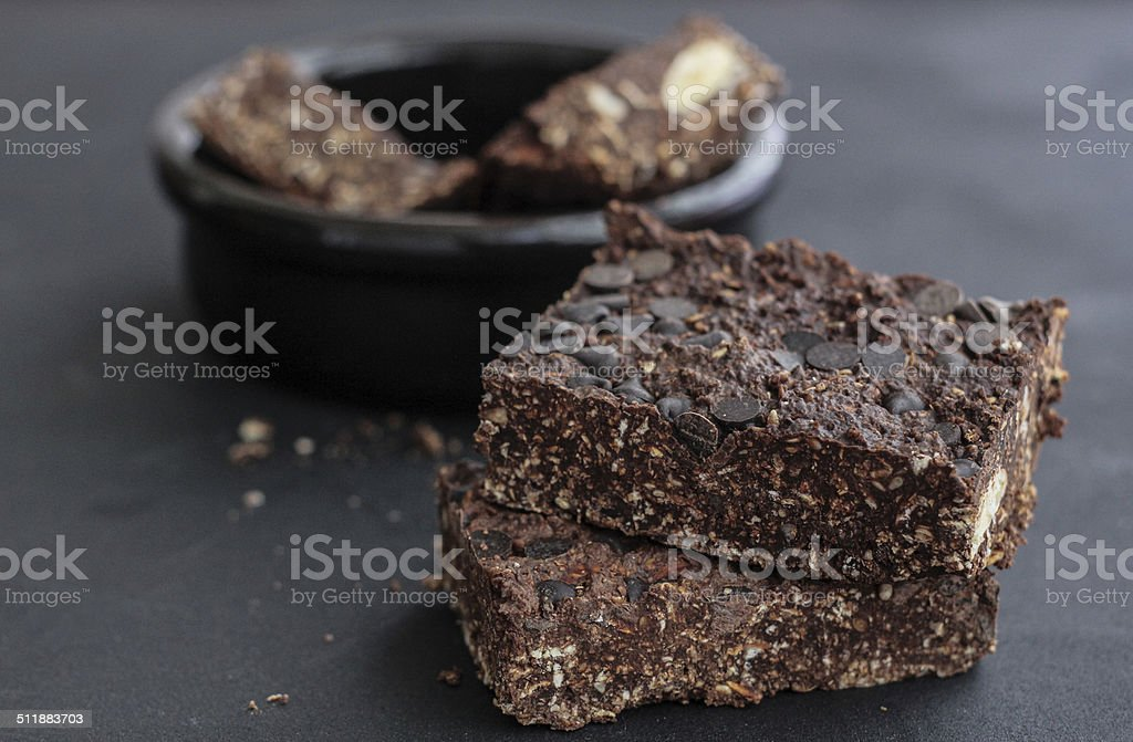 Chocolate Granola Bars stock photo
