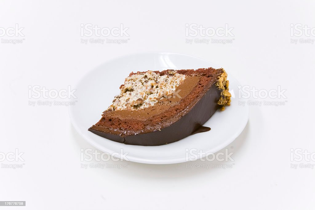 Chocolate Hazelnut Zuccotto royalty-free stock photo
