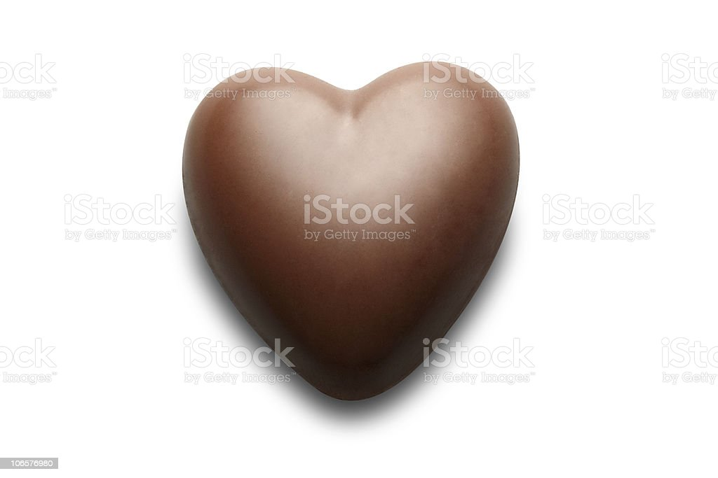 Chocolate heart. stock photo