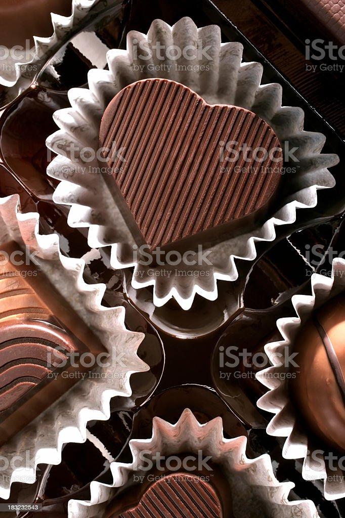 chocolate heart stock photo