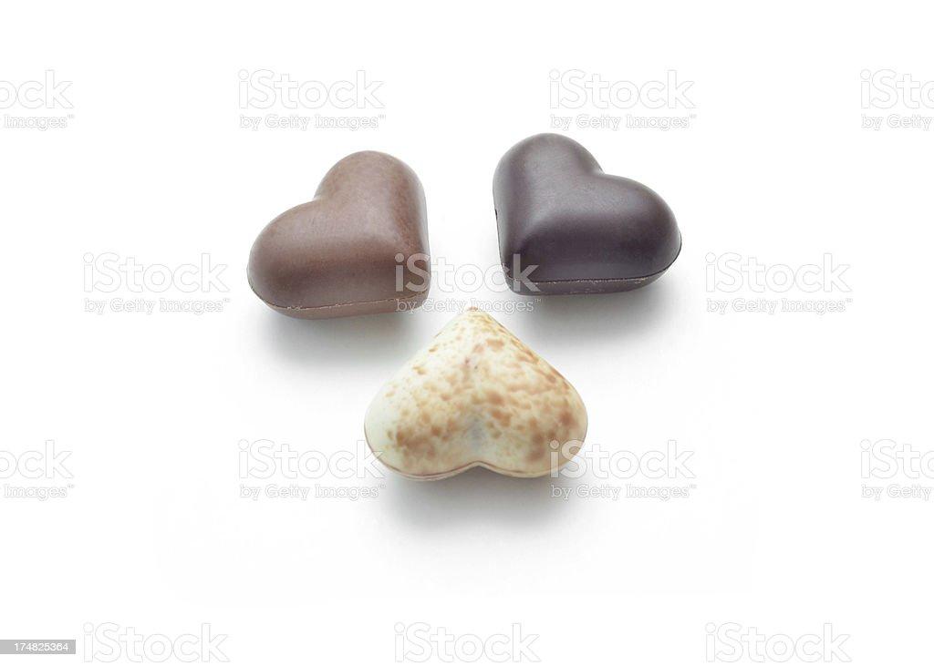 Chocolate Hearts royalty-free stock photo