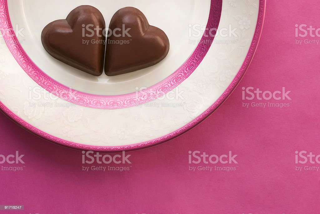Chocolate Hearts - Royalty-free Color Image Stock Photo