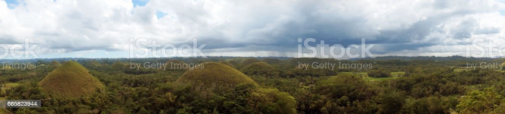 Chocolate Hills in Bohol, Philippines stock photo