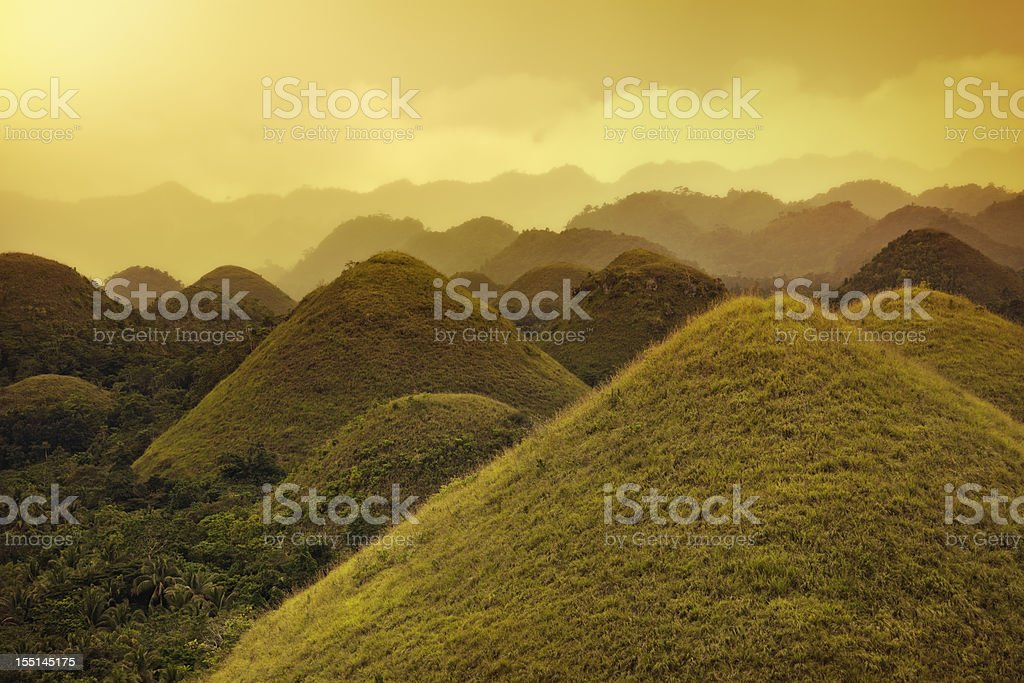 Chocolate hills royalty-free stock photo