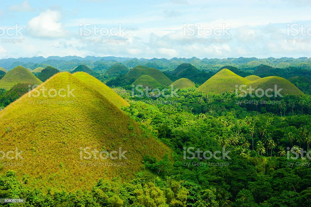 chocolate Hills stock photo