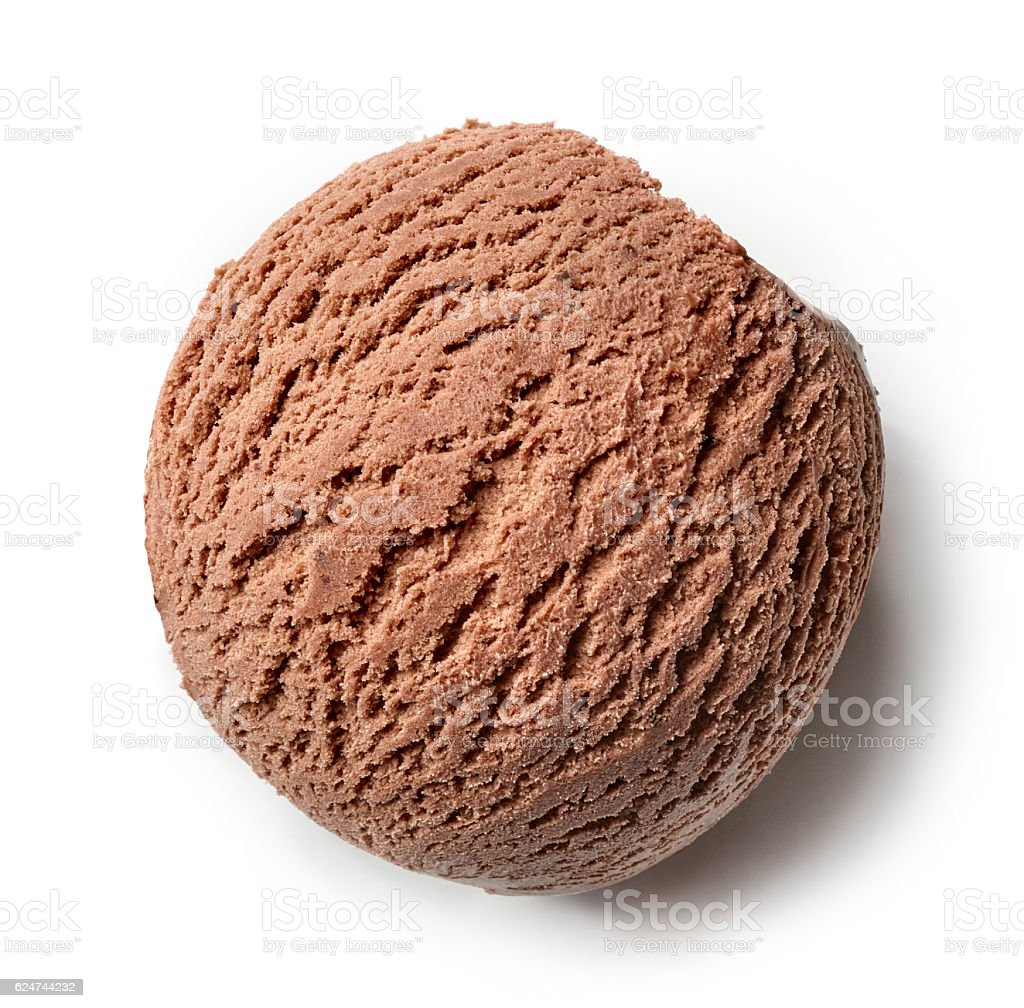 chocolate ice cream ball - Photo
