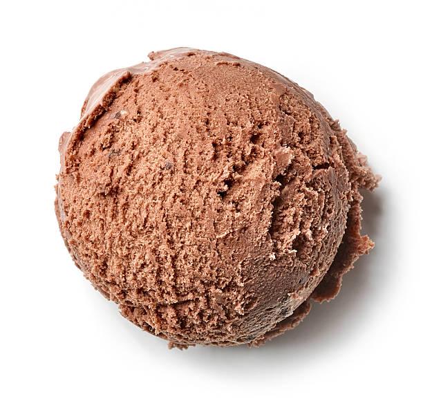 chocolate ice cream ball - foto de acervo