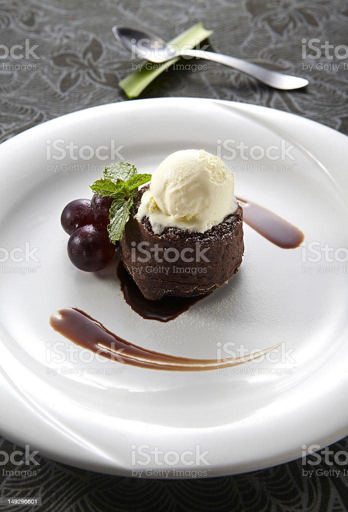 Chocolate ice cream cake royalty-free stock photo