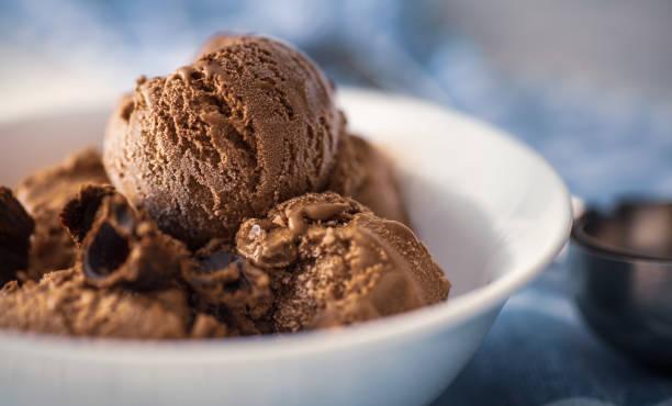 Schokoladeneiscreme – Foto
