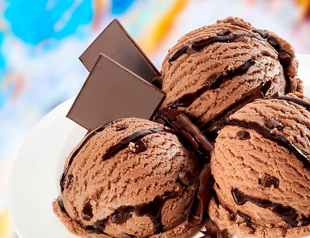 Chocolate ice cream stock photo