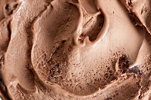 chocolate ice cream - chocolate swirl stock photos and pictures