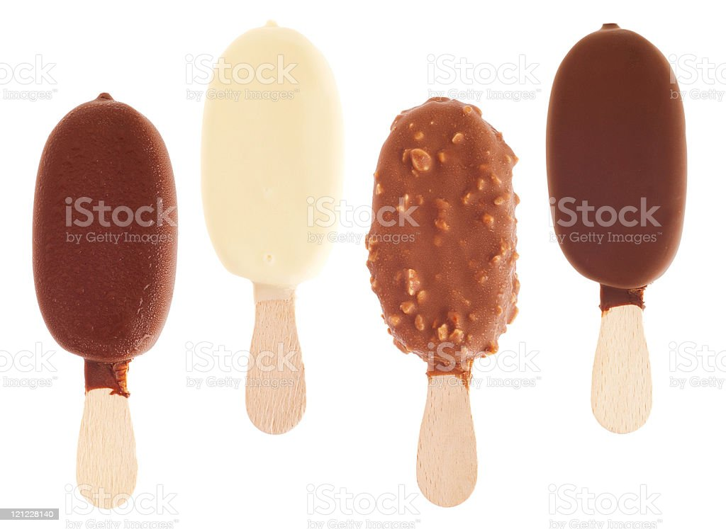 Chocolate ice creams  Almond Stock Photo