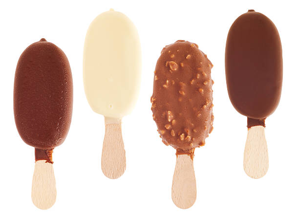Chocolate ice creams stock photo