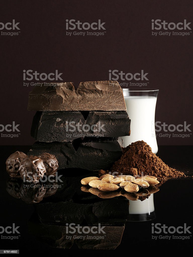 Chocolate Ingredients royalty-free stock photo