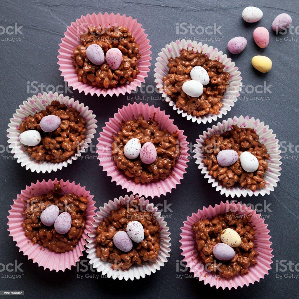 Chocolate Krispie Cakes 2 stock photo