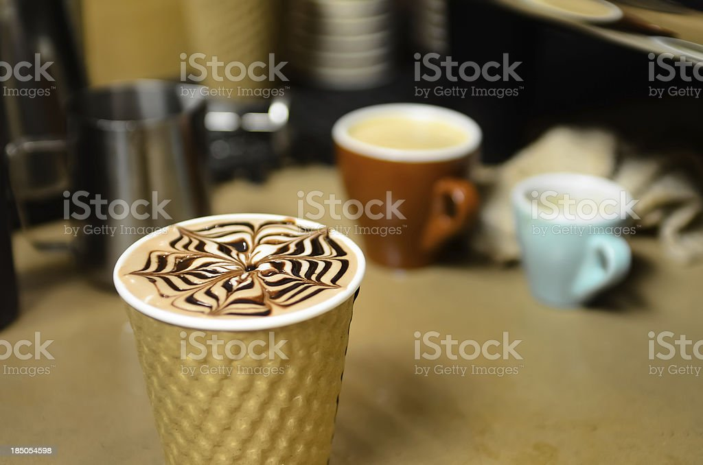 Chocolate Latte royalty-free stock photo