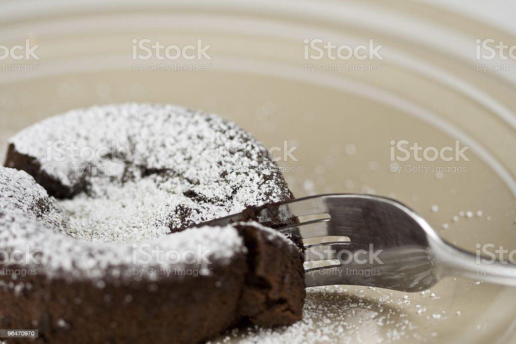 Chocolate Lava Cake royalty-free stock photo