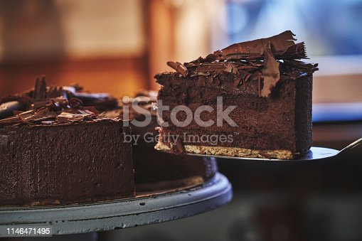 Chocolate Layer Cake with chocolate whipped cream and topping